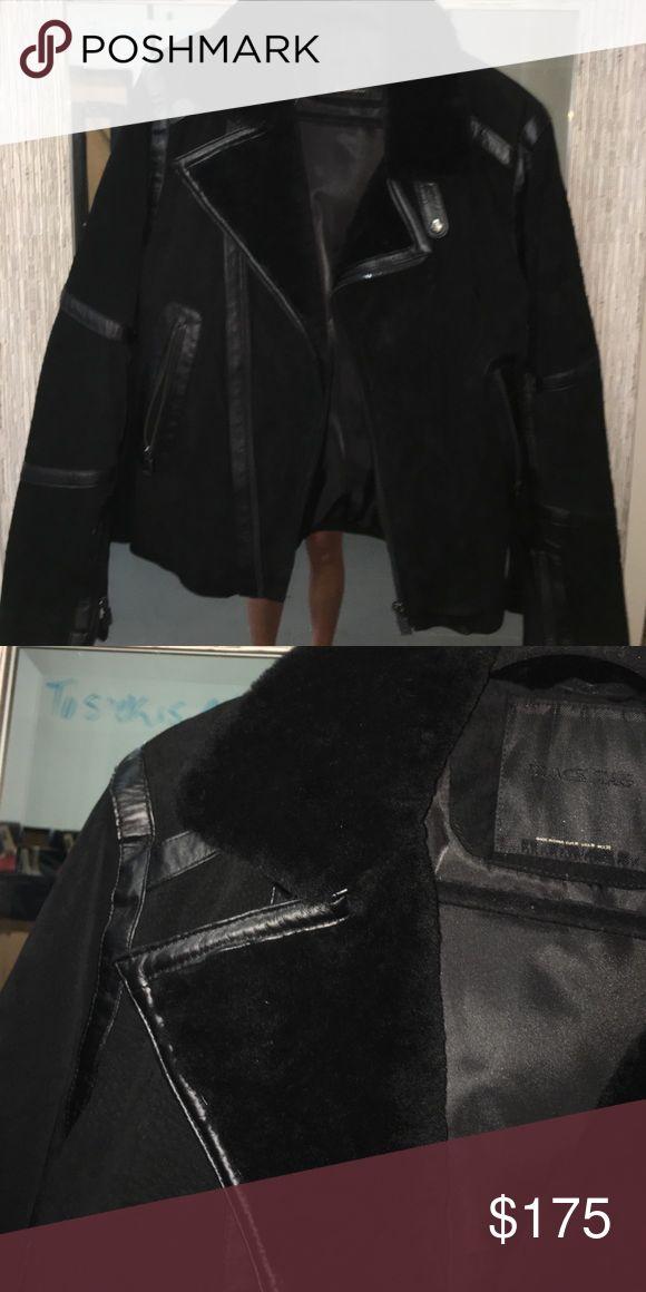 Zara men's jacket Lamb fur and pig leather authentic Zara jacket. NWOT Zara Jackets & Coats Bomber & Varsity