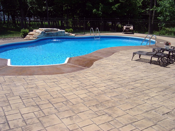 13 best images about cool decking on pinterest decking for Pool deck landscaping