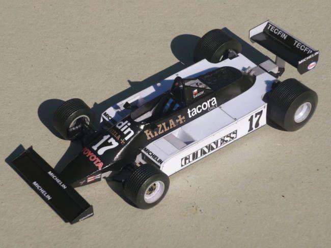F1 Paper Model - 1981 GP San Marino March 811 Paper Car Free Template Download…