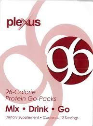 Plexus 96 Plexus 96, our protein meal on-the-go, is designed to support you on your Plexus Weight Loss program. Find yourself in a hurry with no time to stop for breakfast? Tempted to pick up a quick fast-food lunch? Plexus 96 is there to rescue you. Avoid high calorie meals and starving yourself.