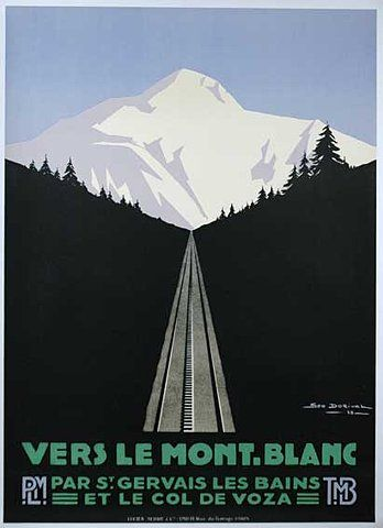 Travel Poster I lived in St Gervais for  six months one winter and this is the Tramway du Mont Blanc
