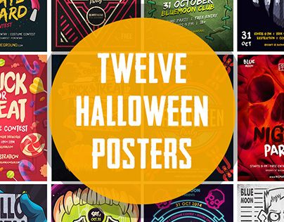 "Check out new work on my @Behance portfolio: ""12 Halloween Posters Bundle"" http://on.be.net/1R0ICUs"