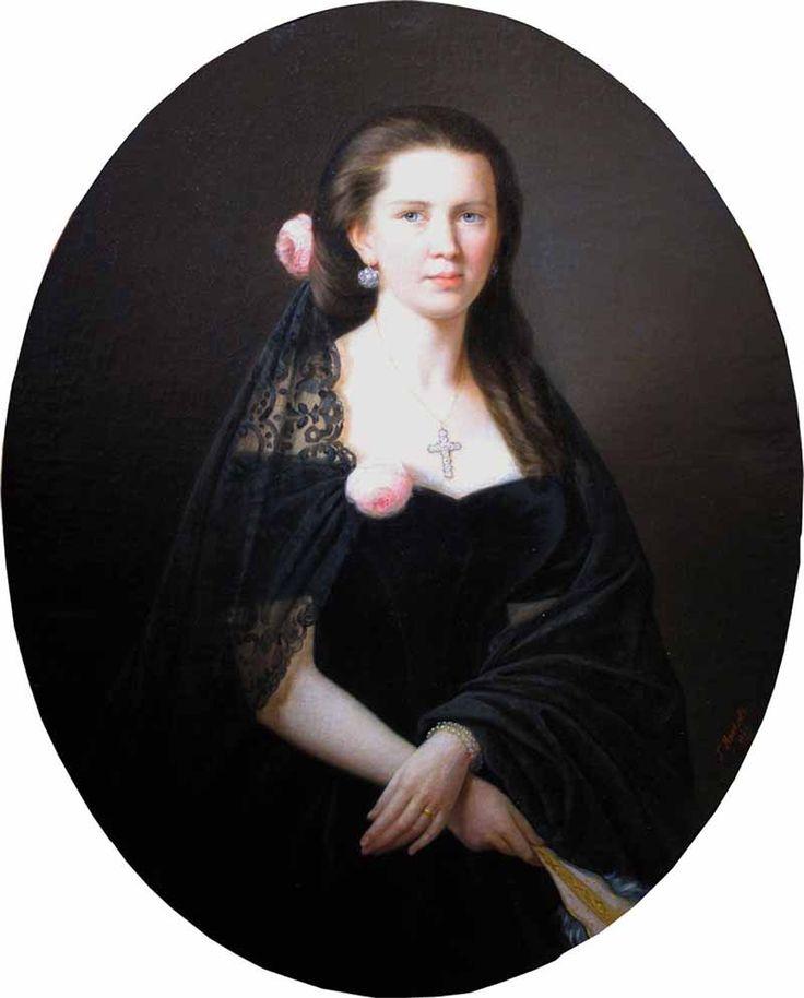 """Яковлев Гавриил Иванович (1819-1862) """"Женский портрет"""""""