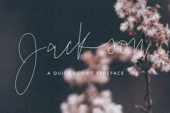 Jackson Script • Available here → https://creativemarket.com/jenwagner93/827022-Jackson-Script?u=pxcr
