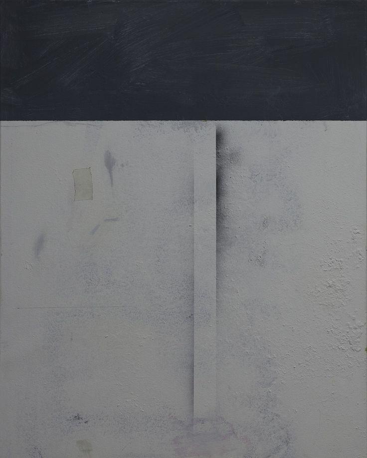 Serhij Ďakiv / Untitled / acrylic and spray on canvas / 2017