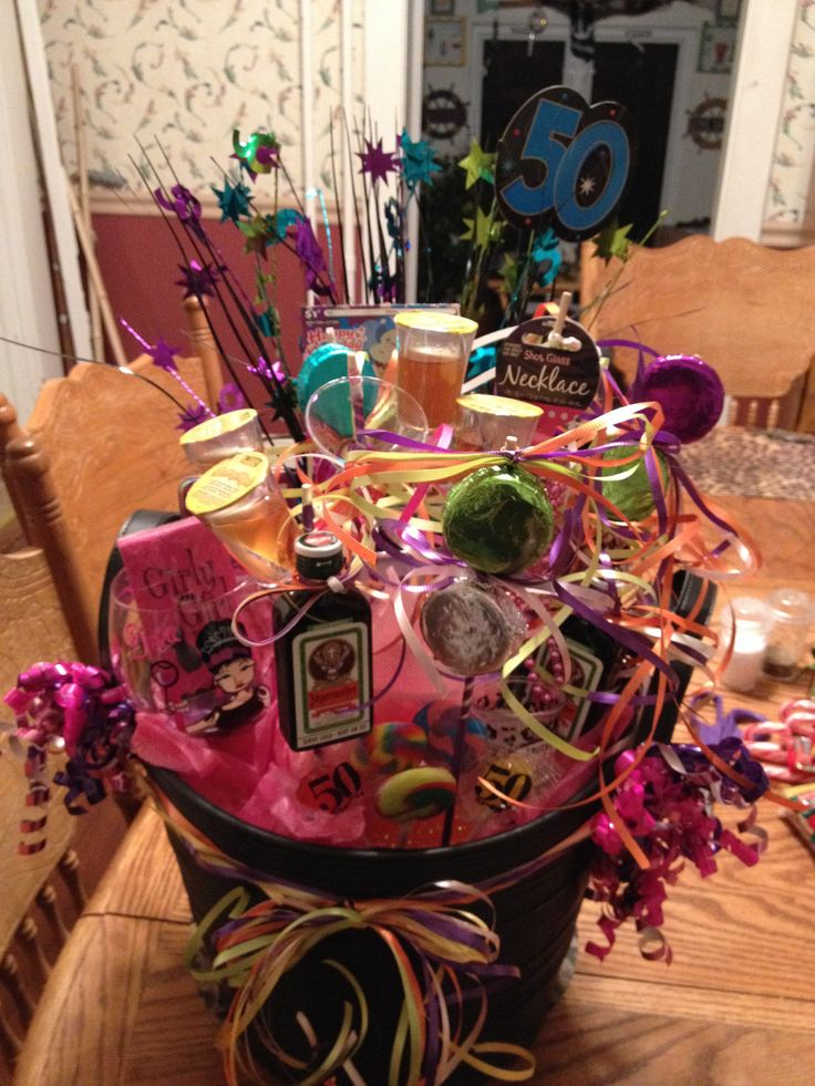 50th birthday basket birthday basket 50th birthday