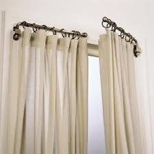 Swing arm curtain rod. Great privacy for a sliding glass door!