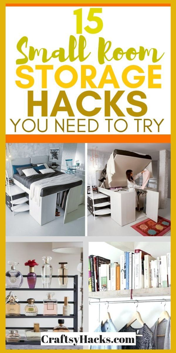 15 Stylish Small Room Storage Hacks Small Room Organization