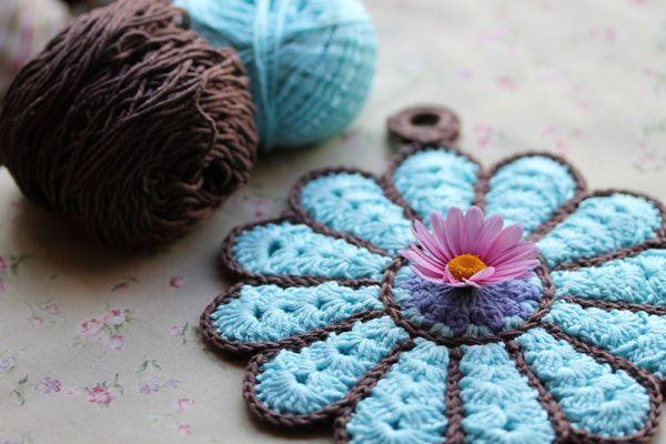 Turquesa y chocolate | Crochet & Knit | Pinterest