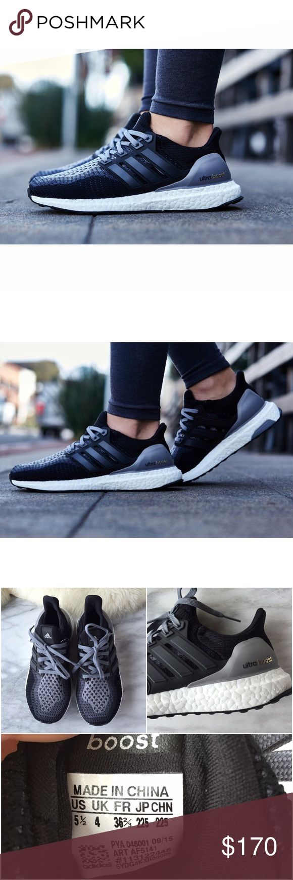 Adidas Ultra Boost Knit Running Shoes •Authentic Adidas Ultra Boost Running shoes. Style AF5141  •Women's size 5.5   •Display shoe, like new condition.  •NO TRADES/PAYPAL/MERC/HOLDS/NONSENSE. Adidas Shoes Athletic Shoes