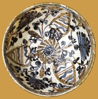 İznik Milet ware, bowl, red clay, diameter:15 cm ,15th century, Sotheby's (X)  (Erdinç Bakla archive)