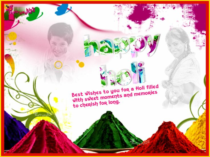 Happy Holi Wishes Image for Facebook Timeline Post Status Picture with Message By Poetrysync
