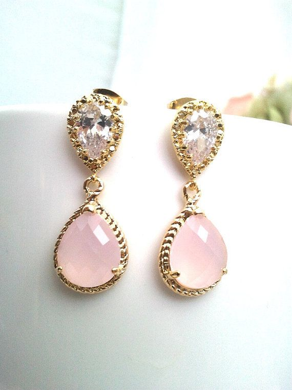 Hey, I found this really awesome Etsy listing at https://www.etsy.com/listing/245999442/blush-pink-earrings-pink-opal-gold