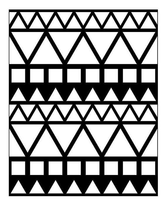 Reusable Allover Wall Stencil Decor / Boho Tribal Pattern / DIY Wall Painting / Choose a size
