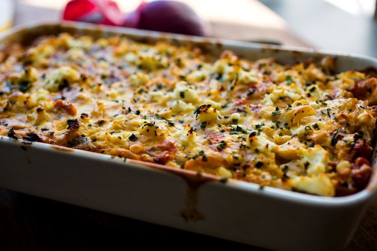 A beautiful, light gratin with Middle Eastern spices.