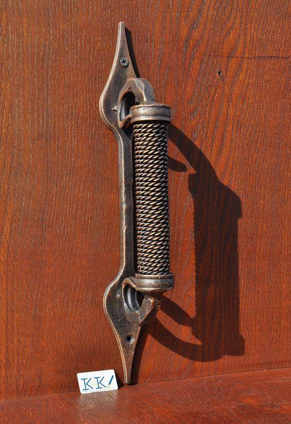 Barn door handle Front door handle Metal handles Forged & 1840 best Handles 4 House images on Pinterest   Lever door handles ...