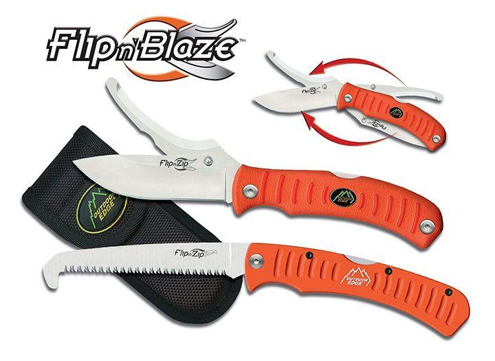 Outdoor Edge FLIP N' BLAZE / SAW COMBO (Orange) - Box