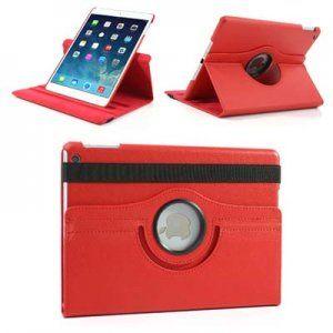 Περιστρεφόμενη Θήκη 360º Book Style με Βάση Στήριξης για iPad Air κόκκινη