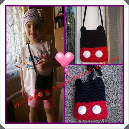 Posetuta crosetata Mickey Mouse