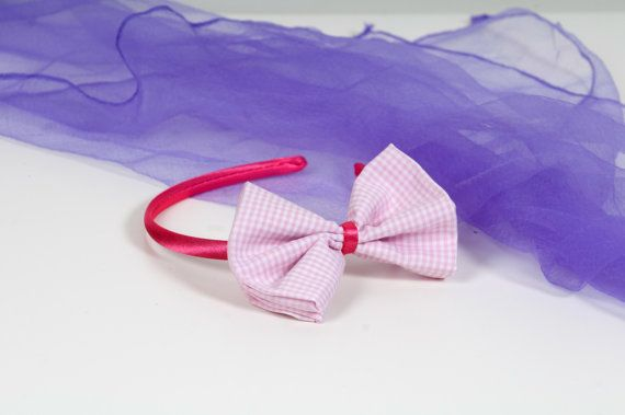 Girls' Bow Tie Headband  Pink Bow Tie by Chrisin on Etsy, €3.40