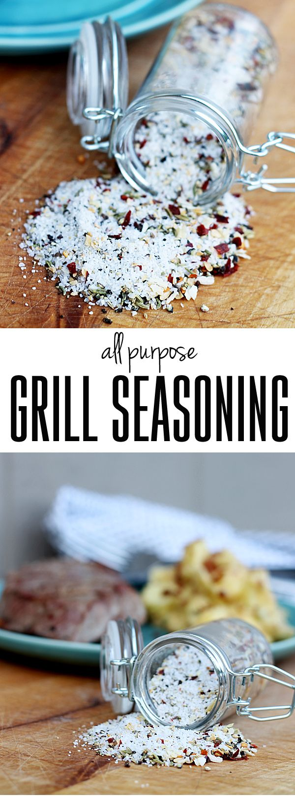 DIY Chicago-Style Grill Seasoning Recipe on The Shabby Creek Cottage at http://www.theshabbycreekcottage.com/2015/05/chicago-style-grill-seasoning.html