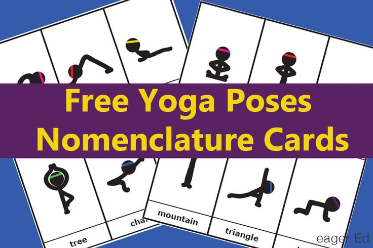 Y is for Yoga Poses | Montessori Style Nomenclature Cards | eager Ed