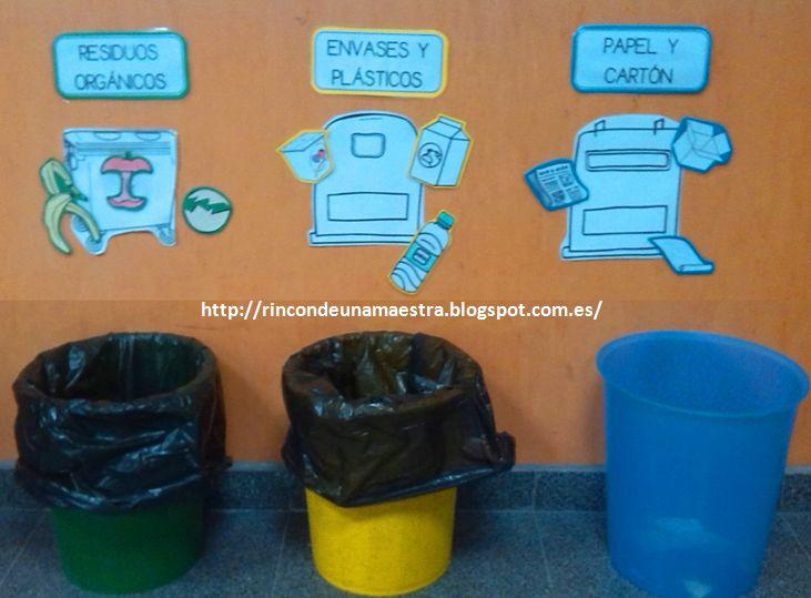 Rincón de una maestra: Papeleras de reciclaje