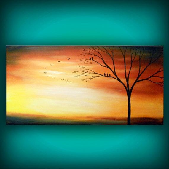 Sunset for an orange room