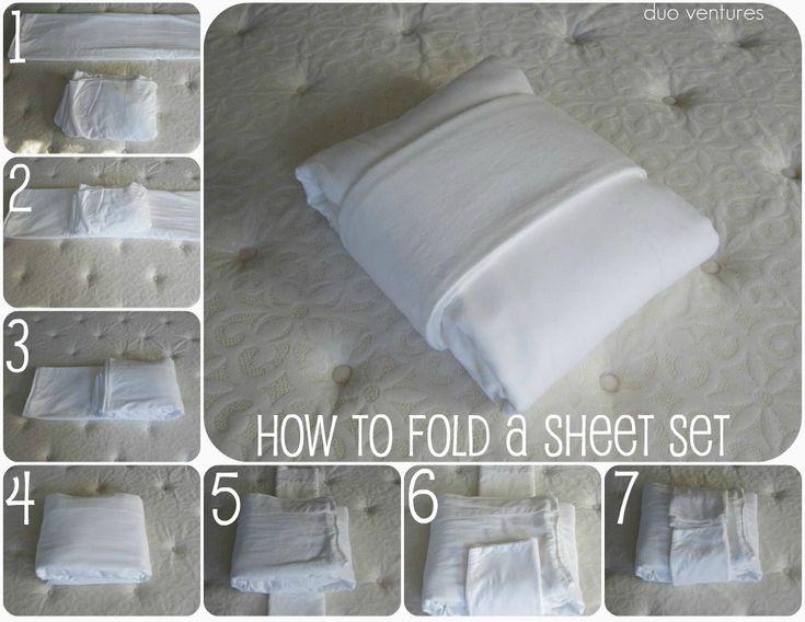 How to fold a sheet set