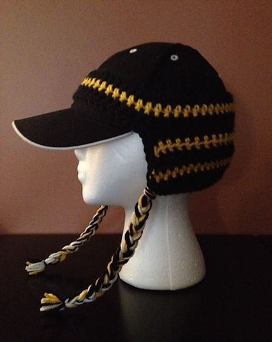 Ravelry: Team Spirit Baseball Cap Ear Warmer pattern by Pamela Bastian