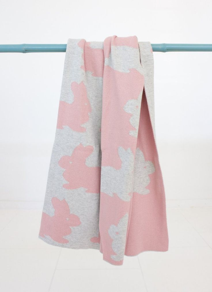 Pink Rabbit Baby Blanket NZ $49, classic golden-girl hues. Perfectly warm, breathable & [attention Mum's] machine washable.