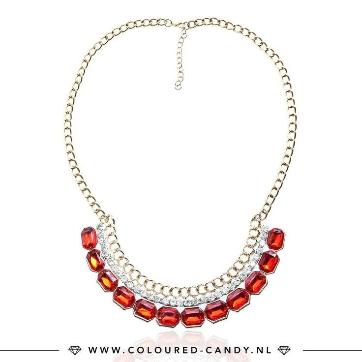 R E D L O V E • Deze prachtige statement ketting shop je nu in de SALE! ♡♡ ➳ https://www.coloured-candy.nl/rode-fashion-ketting/  #colouredcandy #sieraden #jewelry #statement #sale #jewellery #necklace #summer #ootd #gold #red #strass #fashion #mode #style #love #beauty #jewelrygram #fashionista #trendy #beautiful #instagood #shopping #musthaves #bijoux #accessories