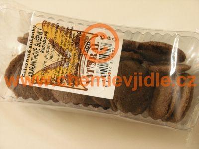 Amaranthové sušenky karobové