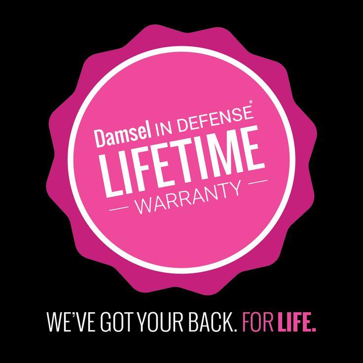 Damsel Lifetime Warranty Graphic | Damsel in Defense www.mydamselpro.net/swla