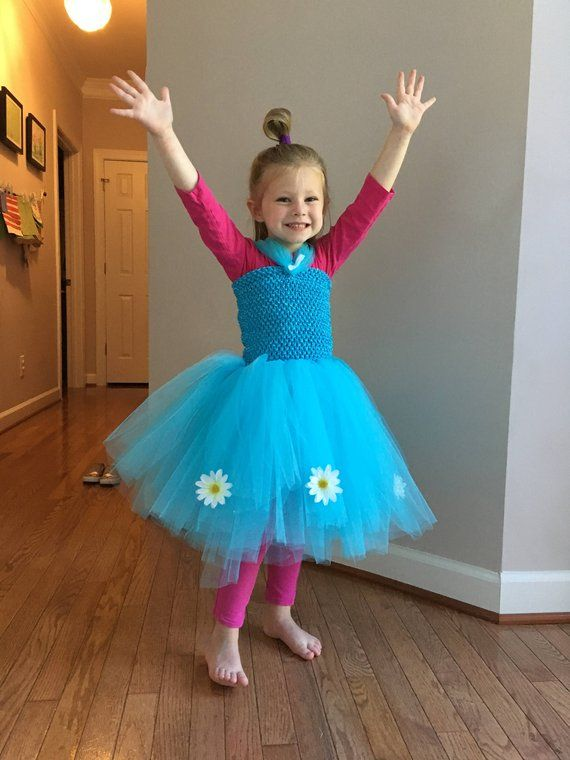 HALLOWEEN DELIVERY Branch Poppy Tulle Halloween Costume for Kids 7bfa45be70