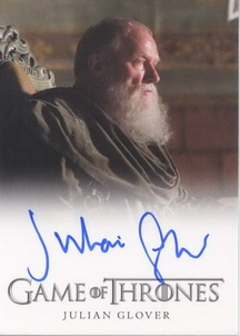 Game of Thrones Season One Trading Cards- Julian Glover Autograph Card (Full-Bleed)         http://www.scifihobby.com/products/gameofthrones/season_one/index.cfm