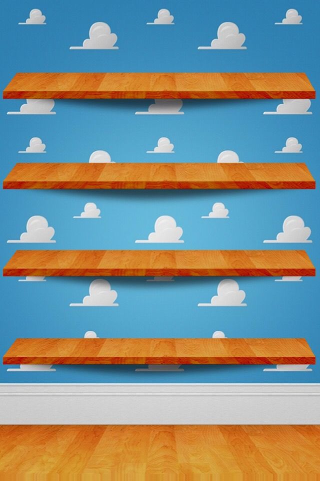 Cloud Wallpaper Shelves Disney Toy Story Clouds Iphone Backgrounds Wallpapers Breathe Qoutes Mobiles