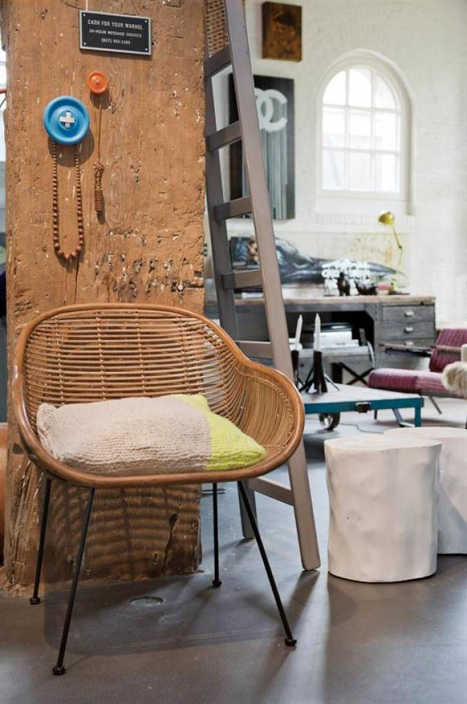 HK Living rattan armchair