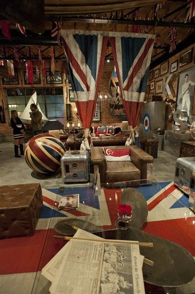 Union jack themed loft
