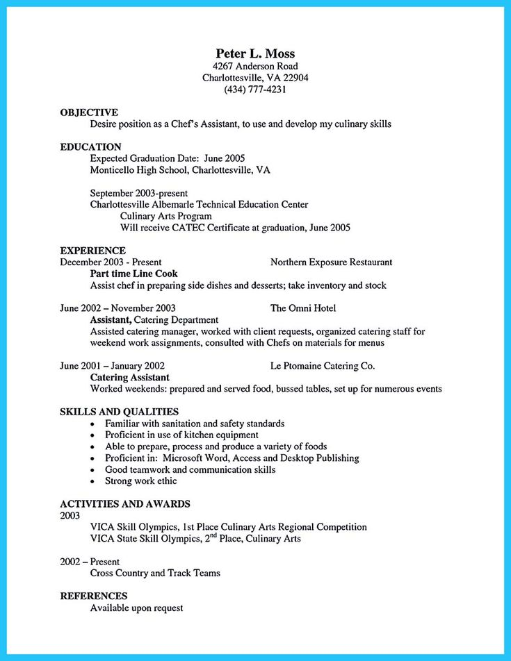 49++ Pastry chef resume template ideas in 2021
