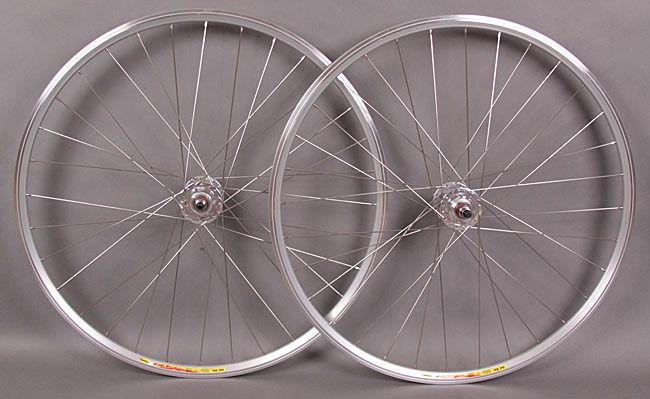 #Mavic CXP22 Track #FixedGear Single Speed Wheels #Wheelset Silver 32h Formula Hub #Mavic