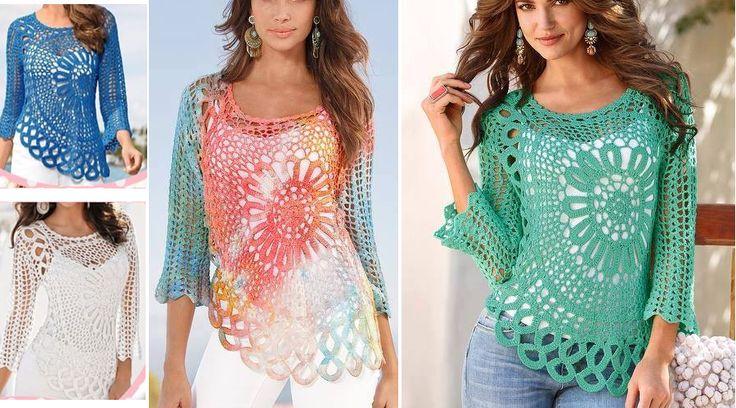 tejer-una-blusa-en-crochet-con-circulo