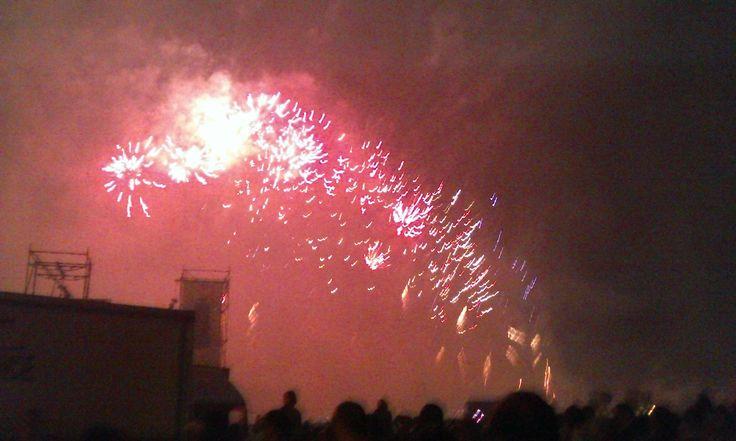 Fuochi d'artificio in Prato della Valle a ferragosto 2014 (6). #VivereArte #MichelaBusana