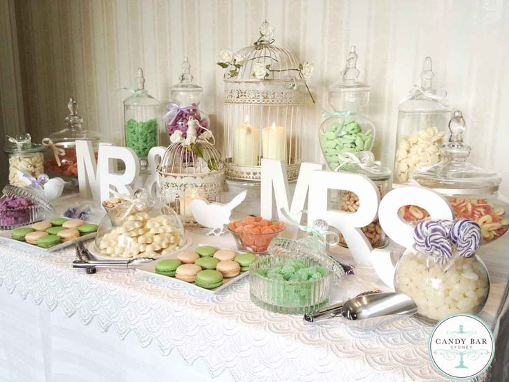 Vintage Wedding Candy Buffet