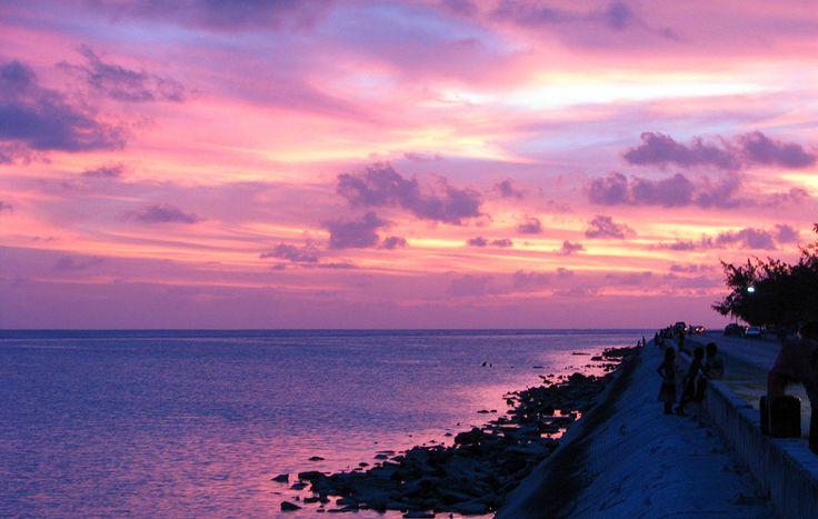 https://flic.kr/p/7Swb5J   Kiribati 09476   Sunset over road causeway, Bairiki, South Tarawa, Kiribati