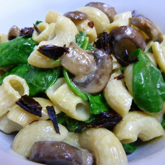Creamy Goat Cheese Pasta With Spinach And Roasted ...