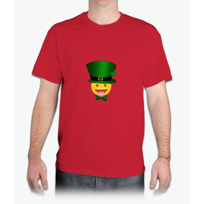 Tongue emoji leprechaun - Mens T-Shirt