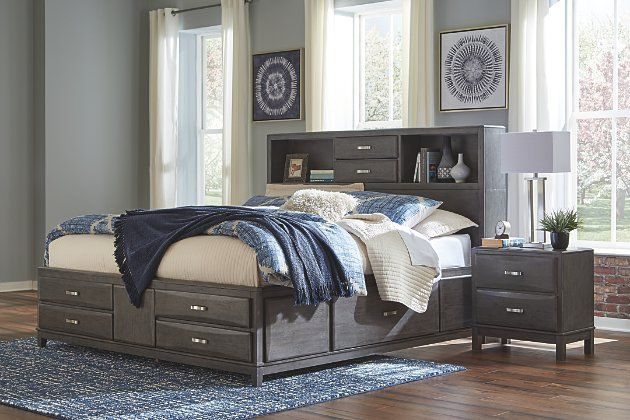 Caitbrook Queen Storage Bed With 8 Drawers Ashley Furniture Homestore Bed Frame With Drawers Loft Bed Frame Storage Bed