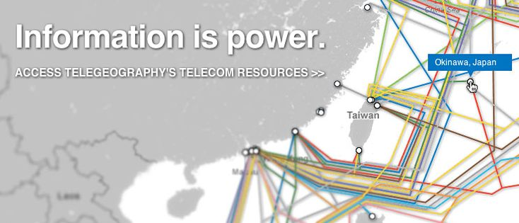 Telegeography. Data-driven international telecommunications market research and analysis, interactive maps, free resources and wall maps.
