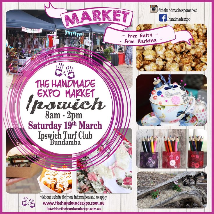Get your Button Fix this weekend!  SATURDAY - 19th March - 8am - 2pm  The Handmade Expo Market is on in Ipswich.  Held at the Ipswich Turf Club with l...